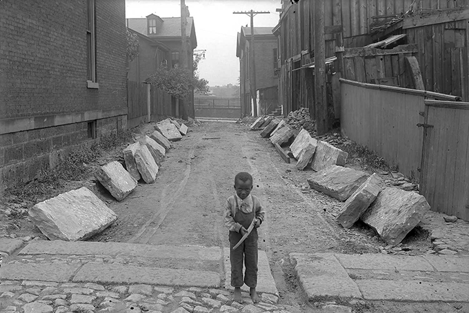 Child in Irwin Alley