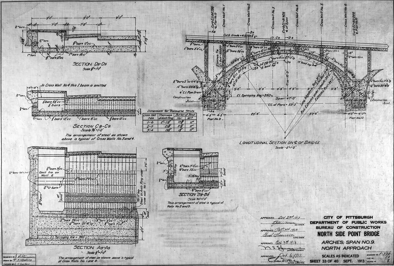 Retrographer blueprint diagram of north side point bridge 20100120 cp 0473 malvernweather Choice Image